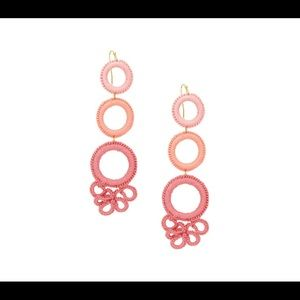 Design Lab - Tonal Linear Ring Drop Earrings